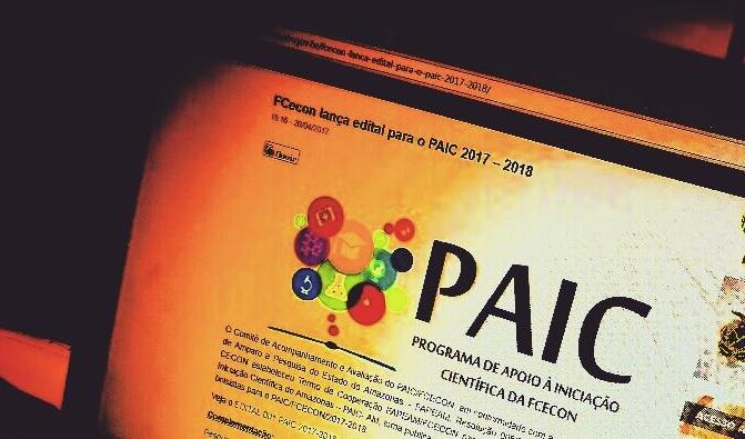 Acesse o edital de seleção para o Paic 2018-2019 da FCecon