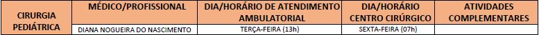 ATENDIMENTO CIRURGIA PEDIÁTRICA