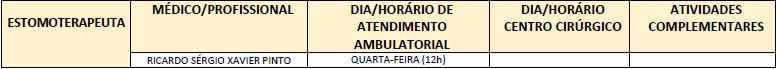 ATENDIMENTO ESTOMOTERAPEUTA