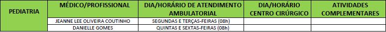 ATENDIMENTO PEDIATRIA