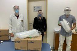 FCecon recebe doação de protetores faciais e auxilia unidades de saúde